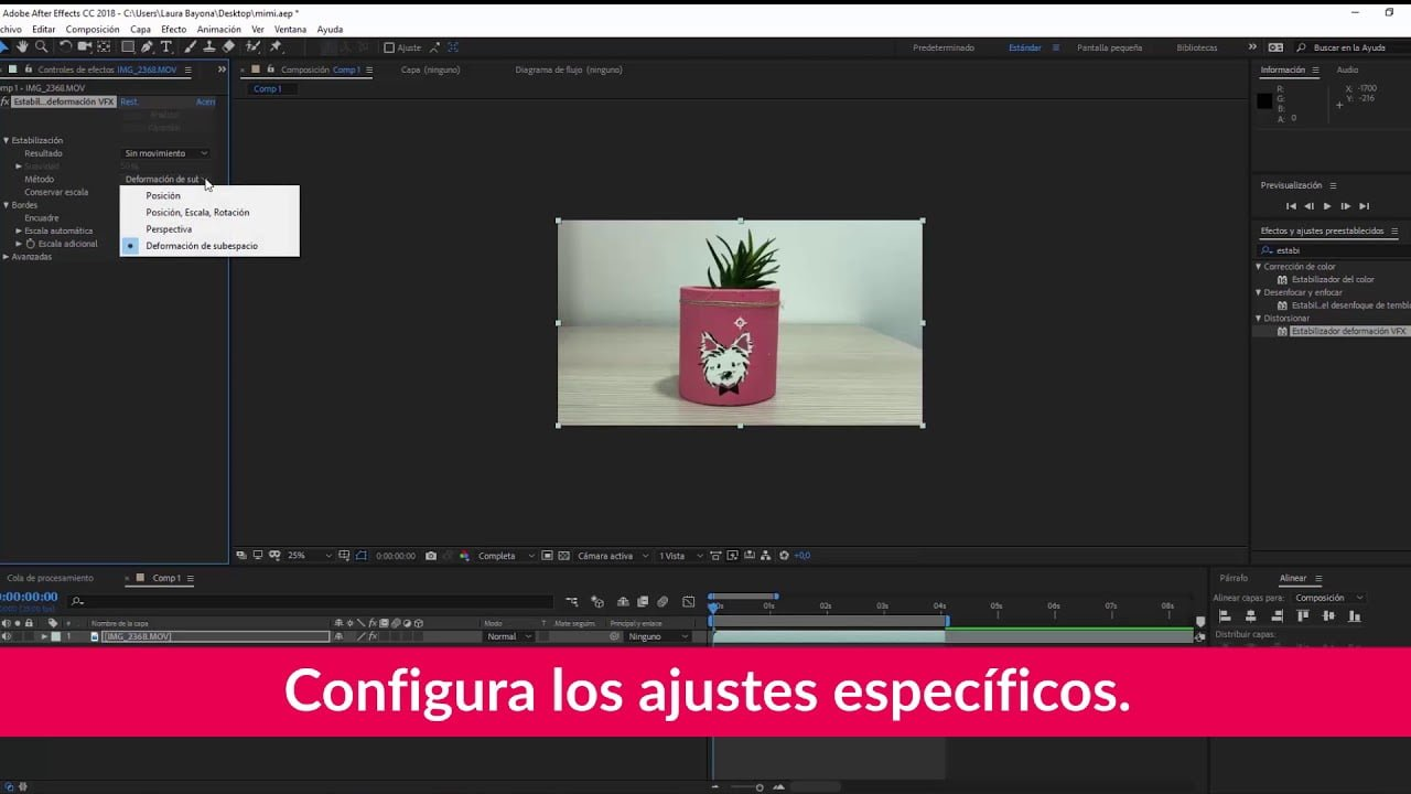 Optimización de las imágenes de vídeo en After Effects