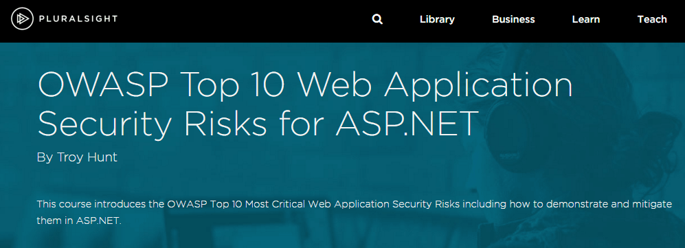 OWASP Top 10 Web Application Security Risks for ASP.NET